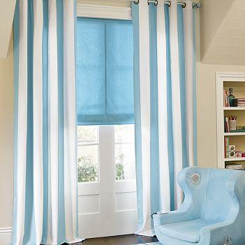 Estor plegable azul el blog de decoraci n interior for Cortinas habitacion bebe