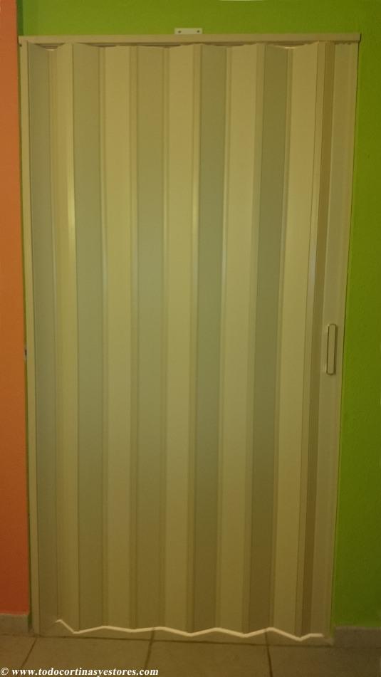 Puerta Plegable de PVC marfil separacion de espacios
